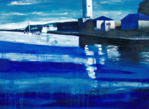 Porto Canale, 200x250cm, olio su tela