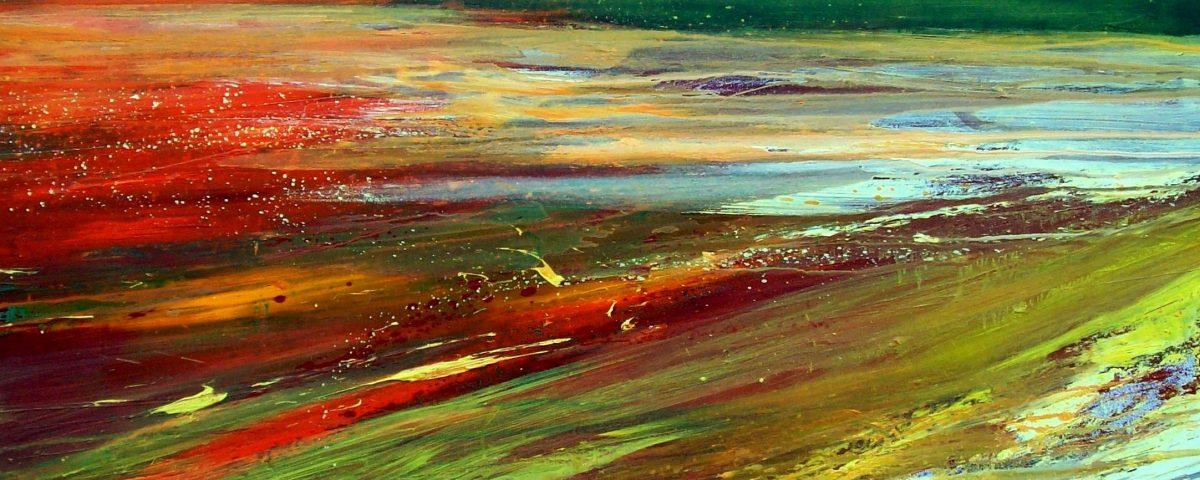 Infuocato, 120x140cm, olio e sabbia su tela