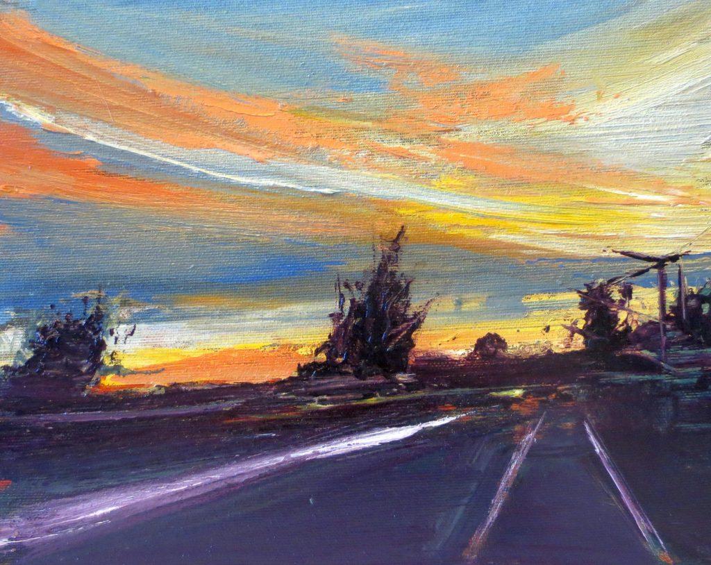 Autostrada, 24x30cm, olio su tela