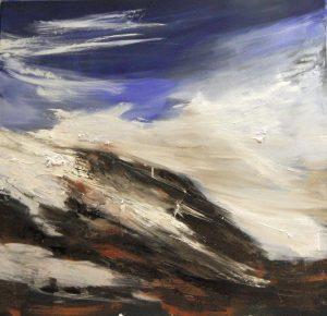 Clouds, 100x100cm, olio su tela