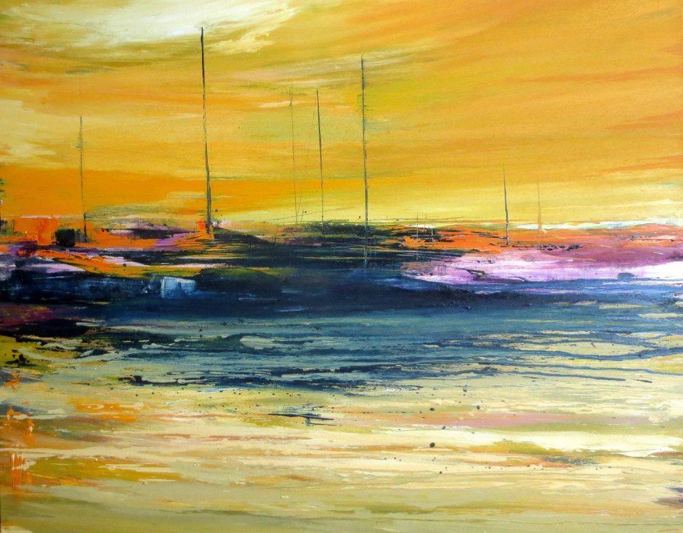 Sunset, 100x100cm, olio su tela