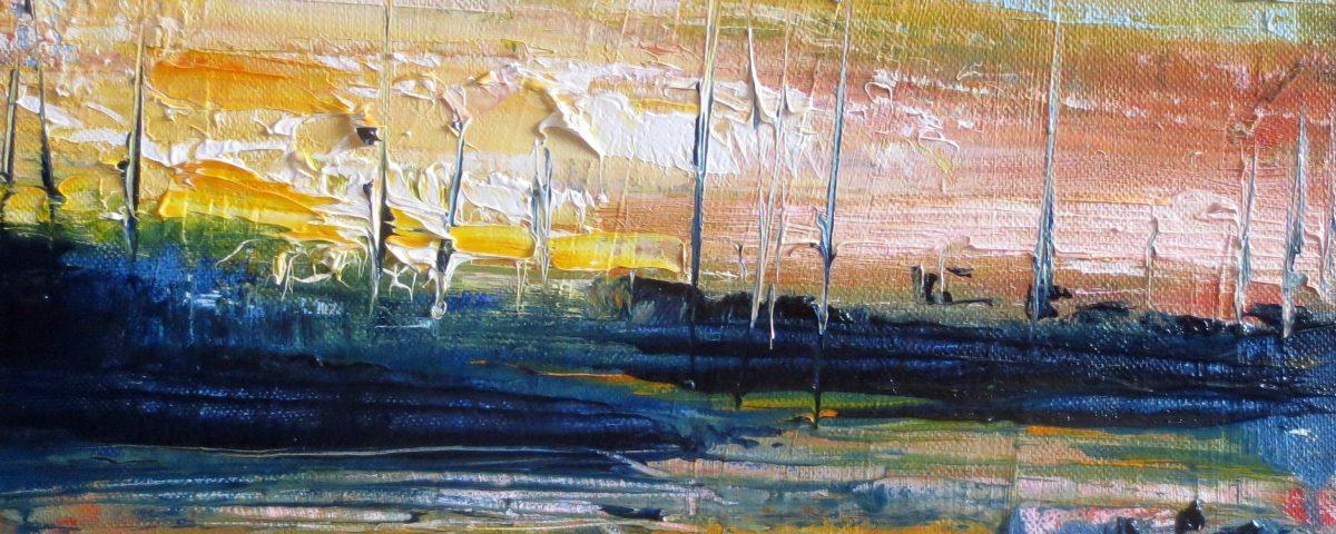 Darsena, 24x30cm, olio su tela
