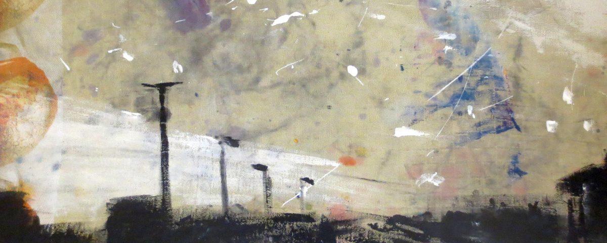 Tangenziale d'inverno, 40x50cm, olio su tela