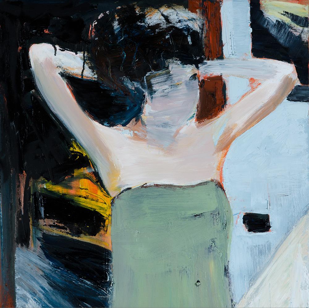 2014 - Allo specchio, 60x60cm, oil on canvas