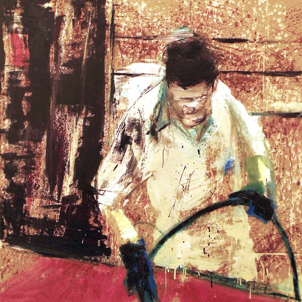 2014 - Verniciatore, 100x100cm, oil on canvas