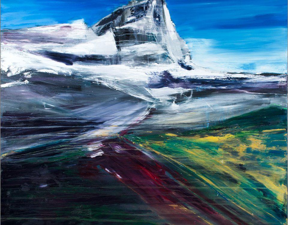 2014-Verso-il-Cervino-200x200cm-olio-su-tela