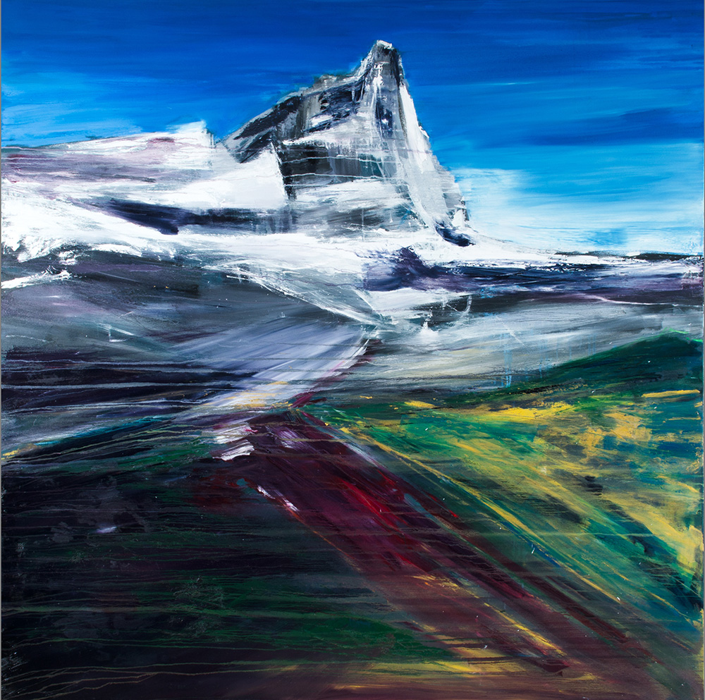 Francesco Zavatta 2014 - Verso il Cervino, 200x200cm, oil on canvas