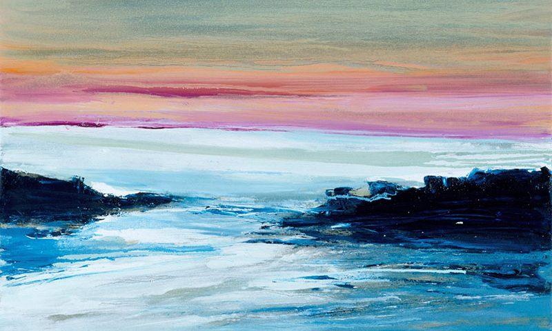 2015 - Al tramonto, 50x80cm, olio su tela