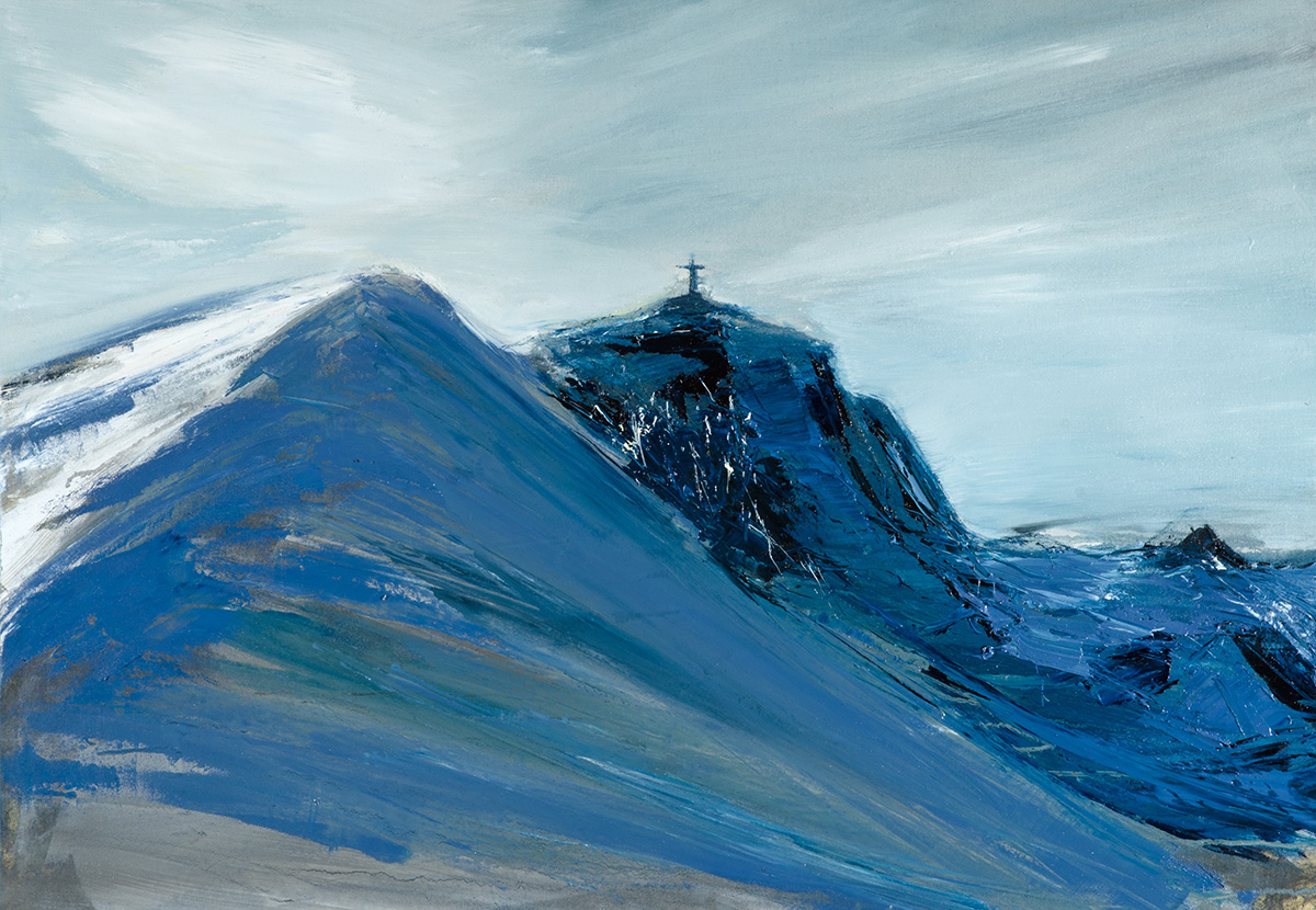 Francesco Zavatta 2015 - Piz Alv, 70x100cm, oil on canvas