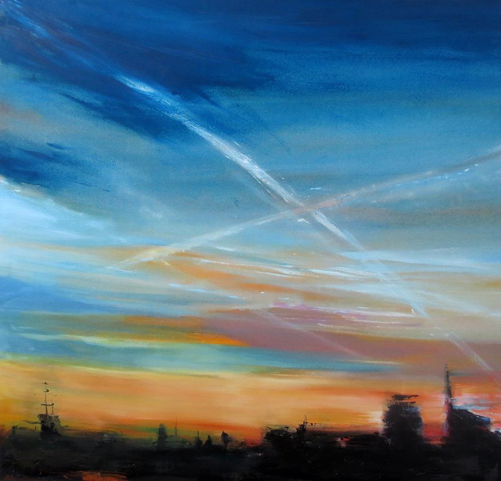 2015 - Squarci di luce, 120x120cm, oil on canvas