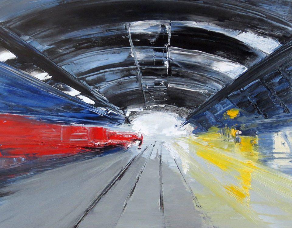 2015 - Stazione centrale, 50x70cm, olio su tela