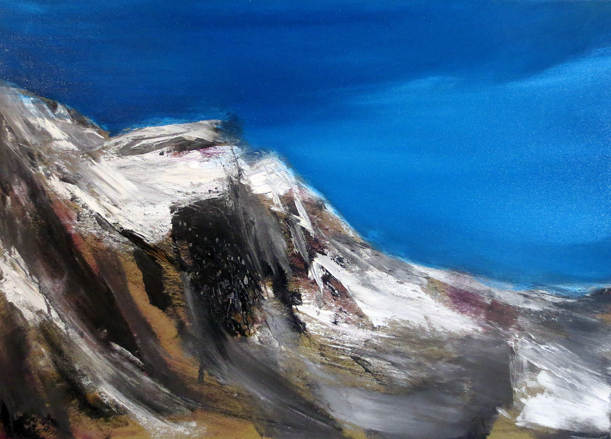 Francesco Zavatta 2016 - Sulla cima, 50x70cm, oil on canvas