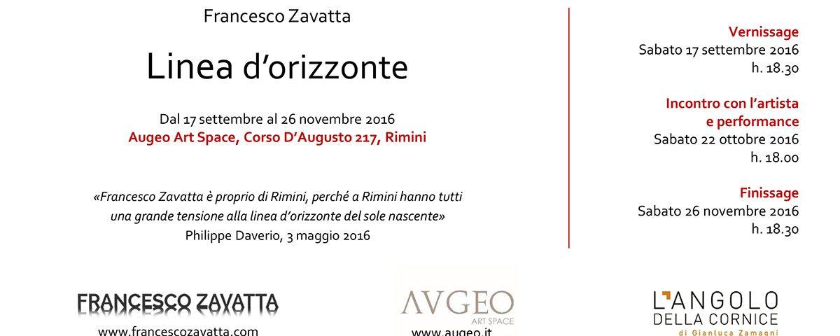 LINEA D'ORIZZONTE, mostra personale a Rimini, 17 settembre – 26 novembre 2016