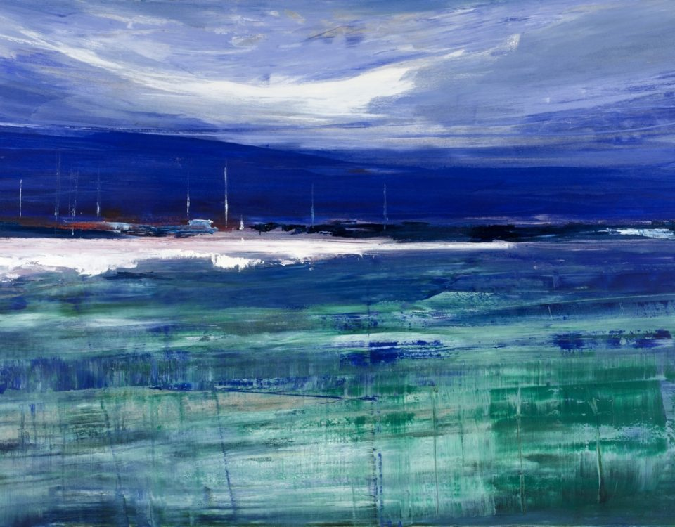 Green-Sea-olio-su-tela-100x150cm