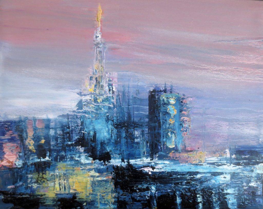 Duomo, 40x50cm, olio su tela