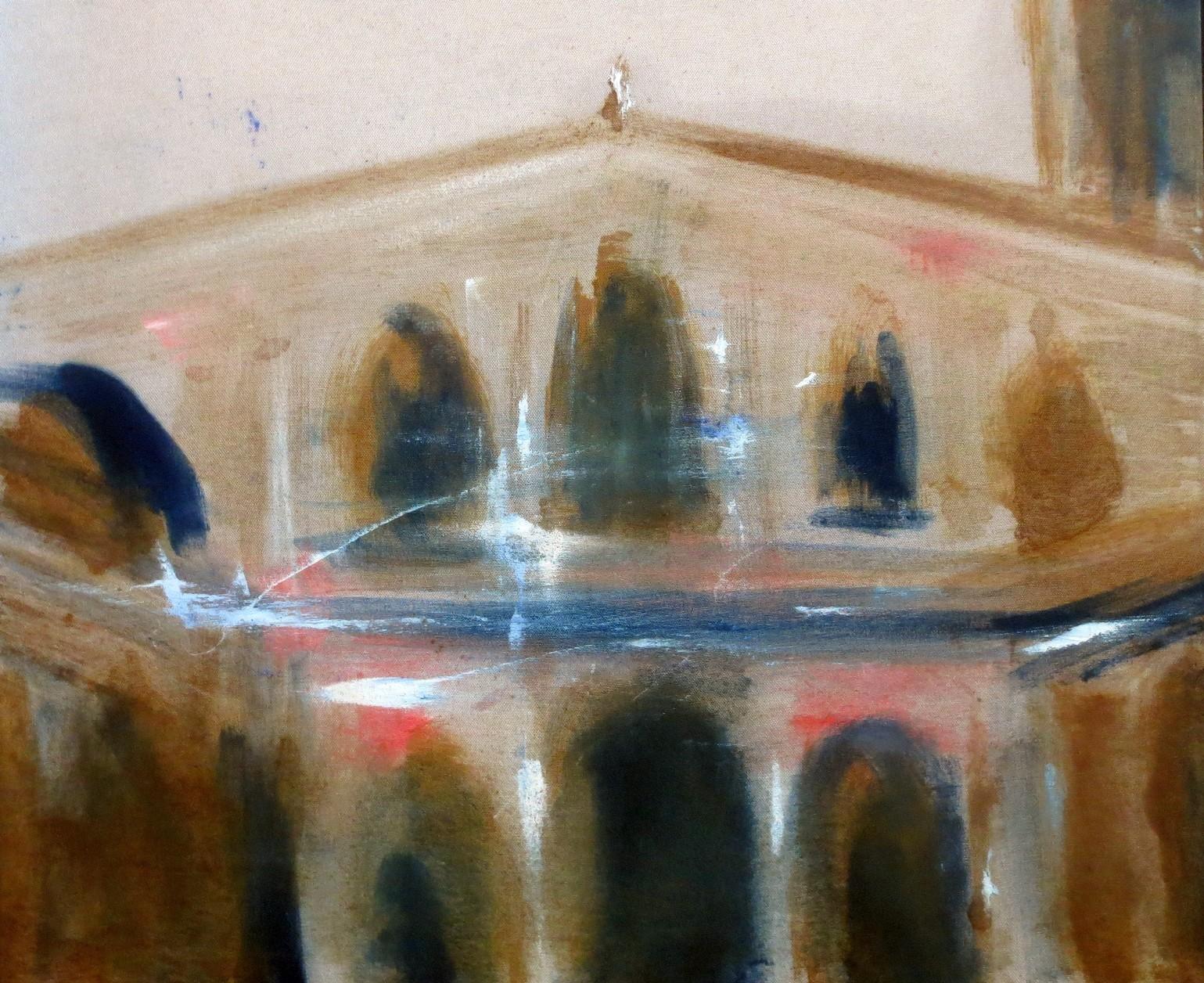 Sant'Ambrogio 50x60cm olio su tela