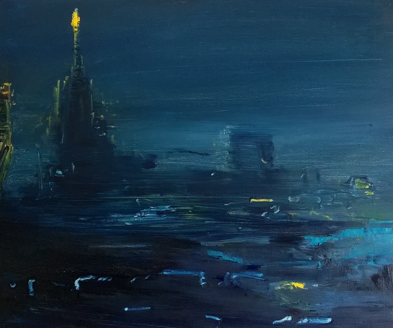 2017 Notturno - Duomo 50x60cm-oil-on-canvas