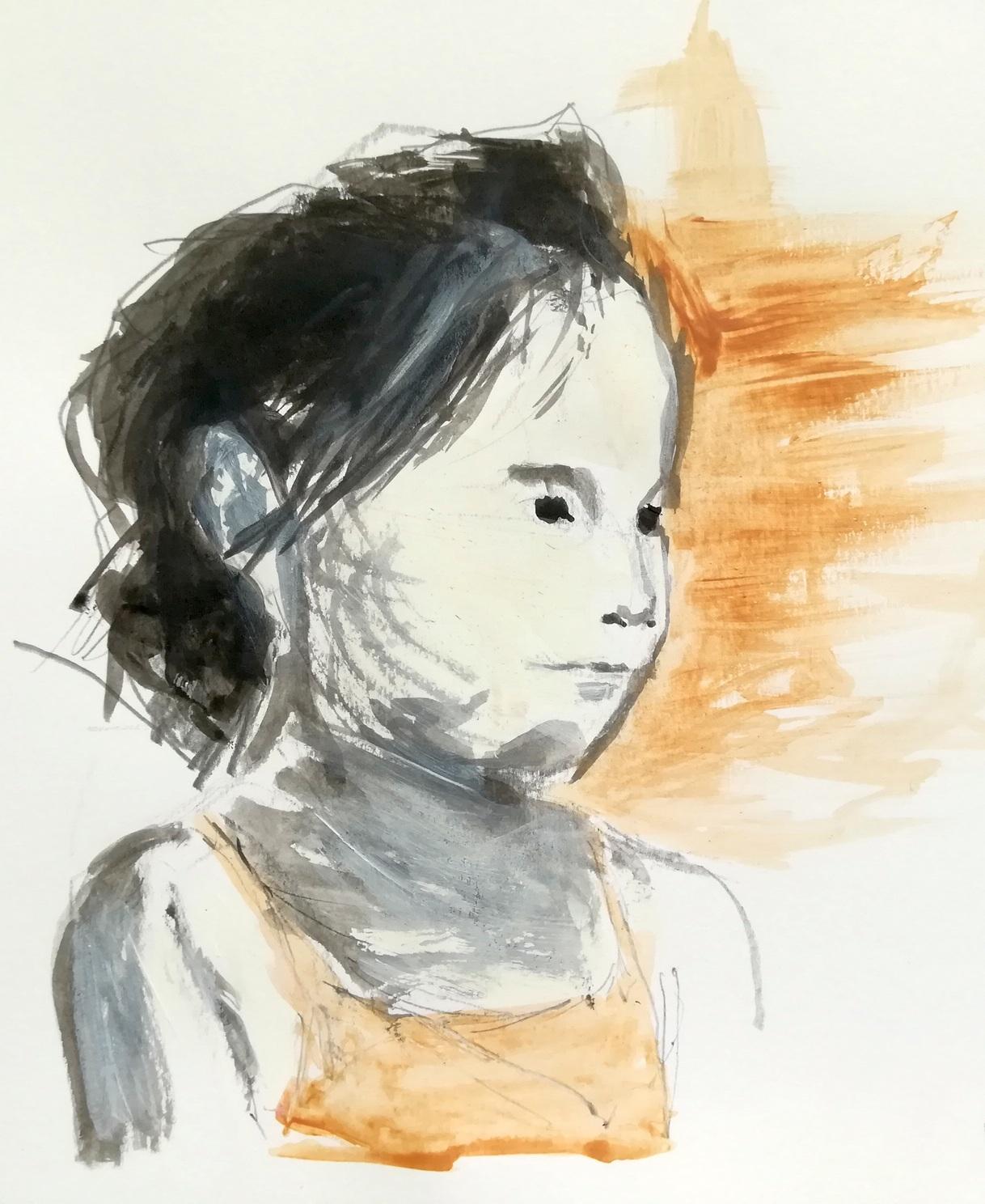 Bambina, disegno