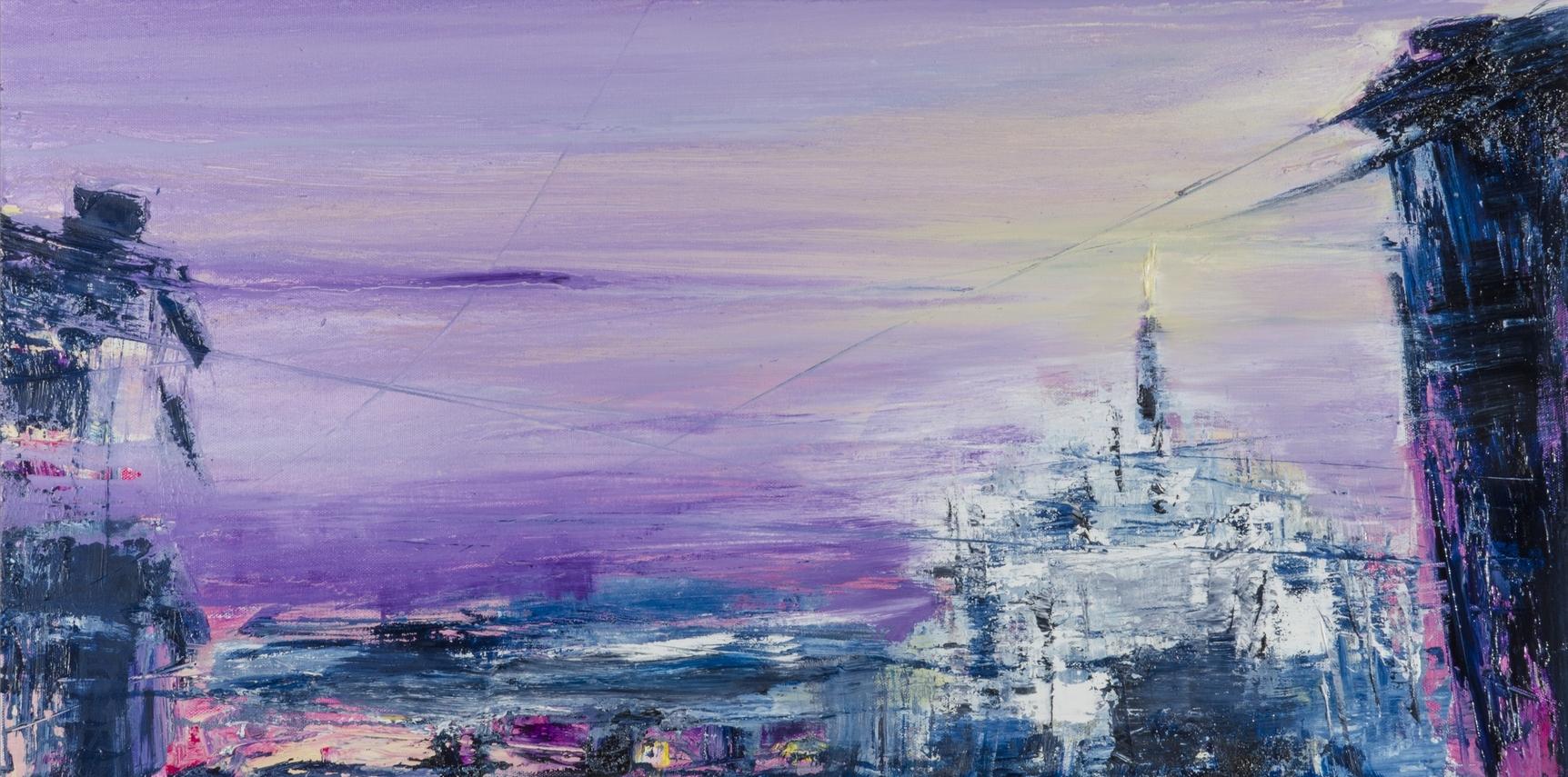 2017 Luci serali 40x80cm-oil-on-canvas