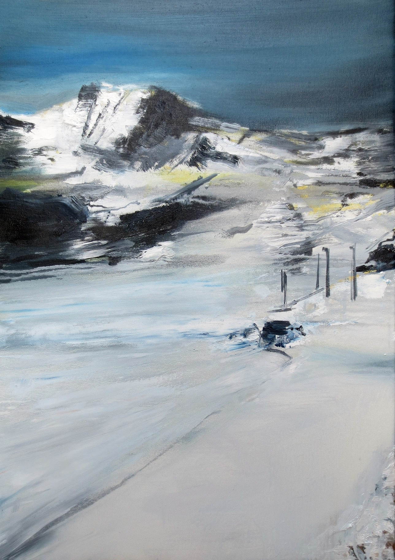 Francesco Zavatta 2018 Alpi 80x60cm oil on canvas