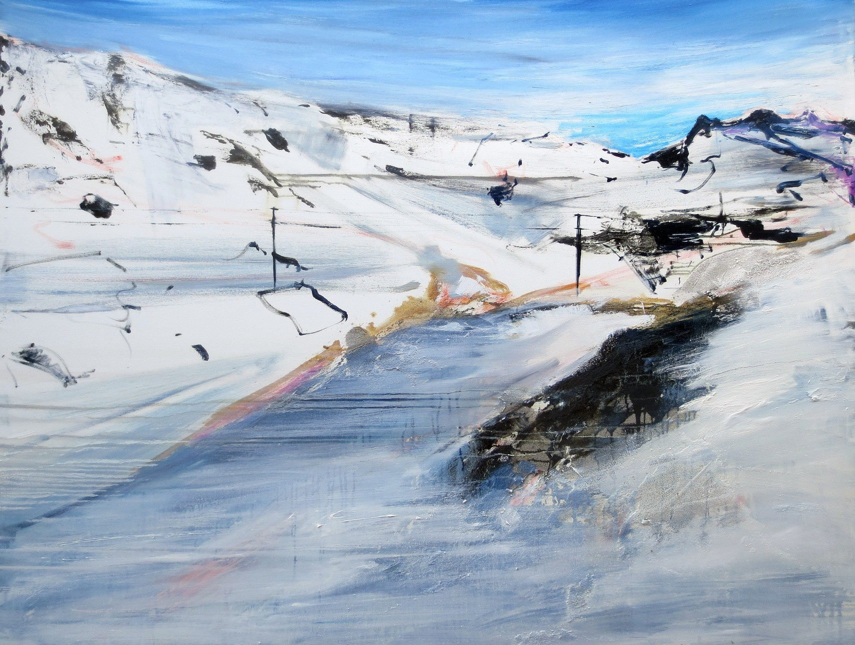Francesco Zavatta 2018 Alpi innevate 120x150cm oil on canvas