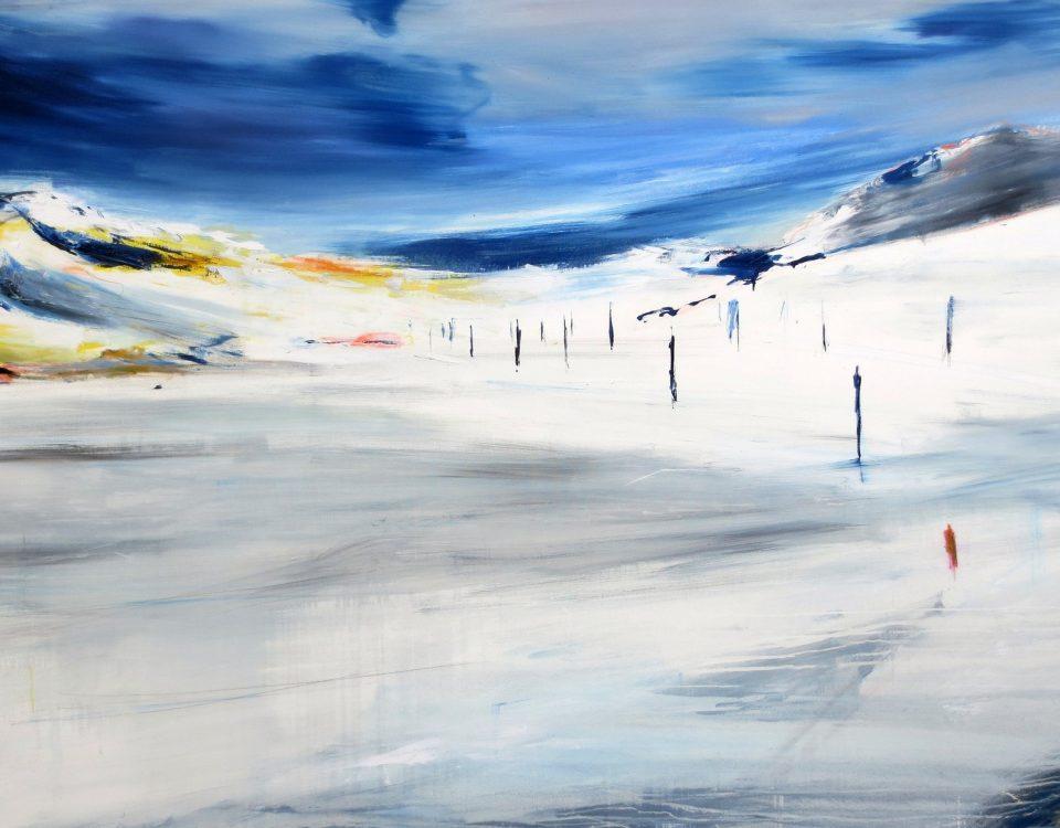 2018 Verso Sankt Moritz 150x230cm olio su tela