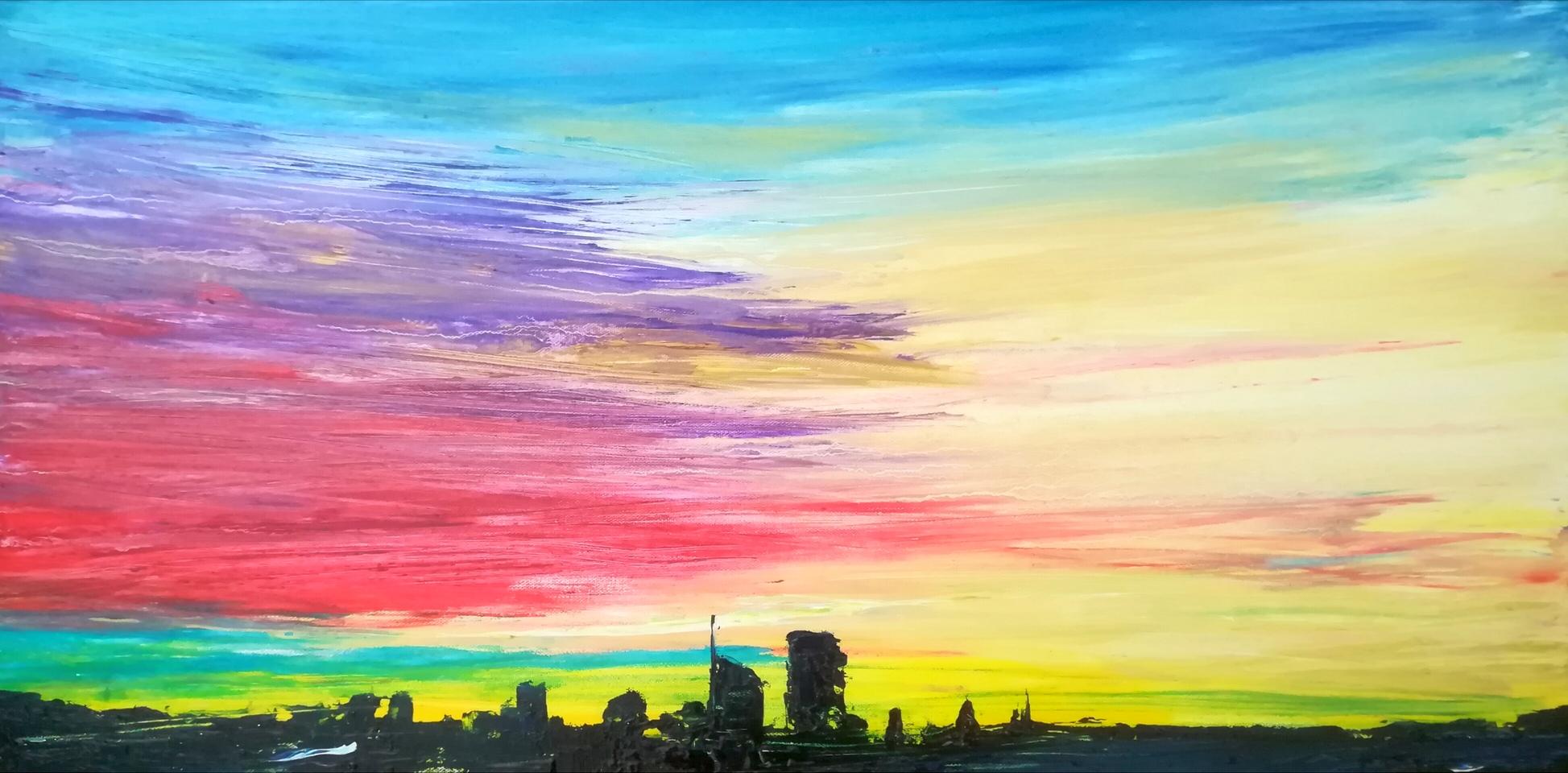 2018-Skyline-40x80cm-oil-on-canvas