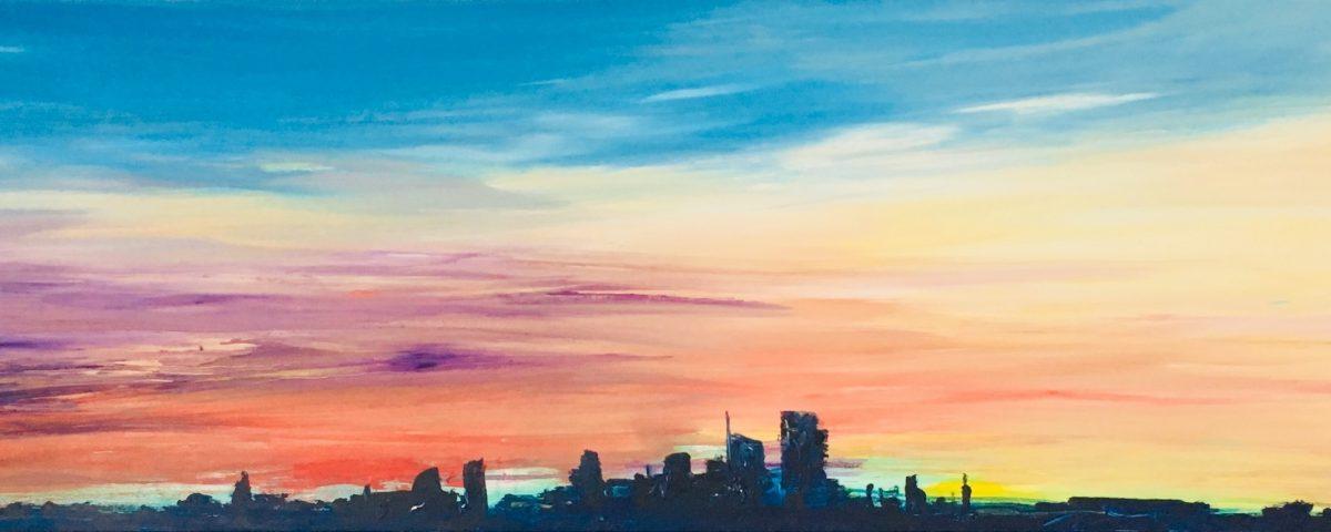 2017 Skyline 60x200cm olio su tela