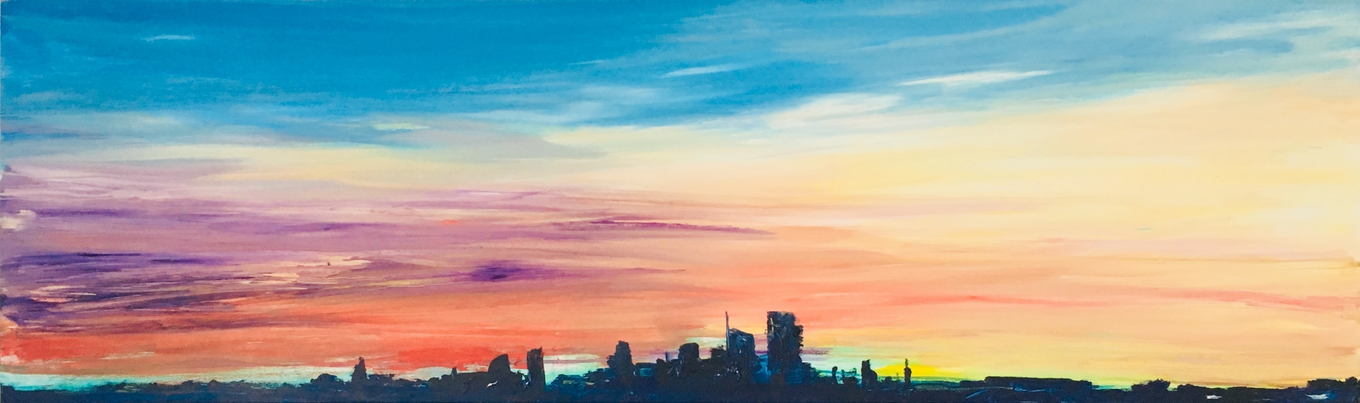 2017 Skyline 60x200cm oil-on-canvas