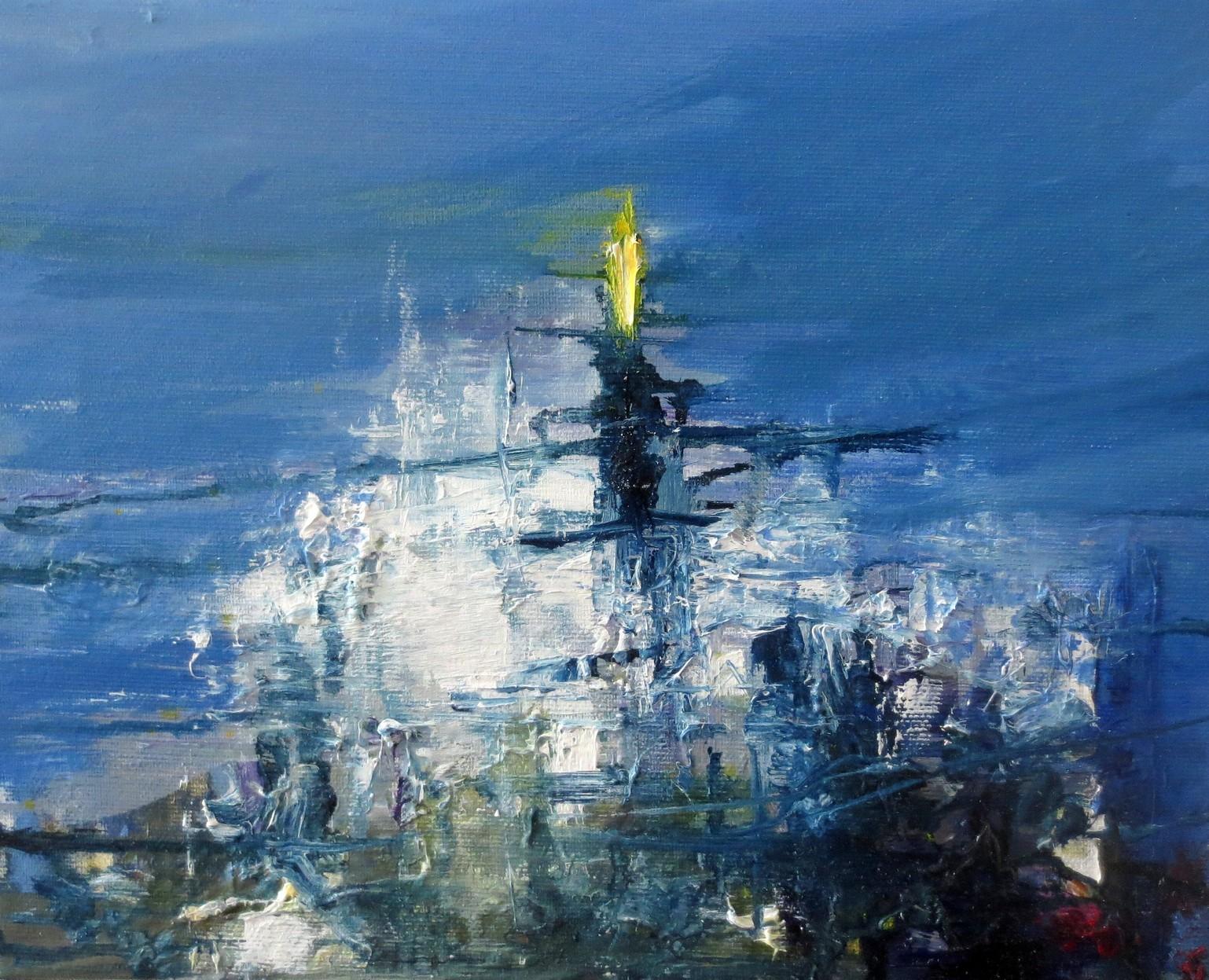 2018 Piazza Duomo 24x30cm olio su tela