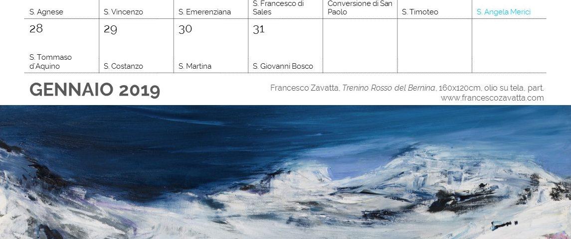 Gennaio Calendario 2019 Francesco Zavatta