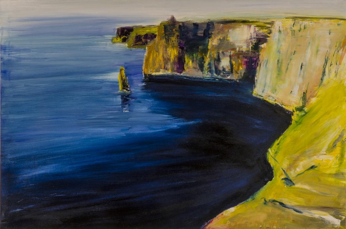 2018 Cliff of Moher 80x120cm olio su tela