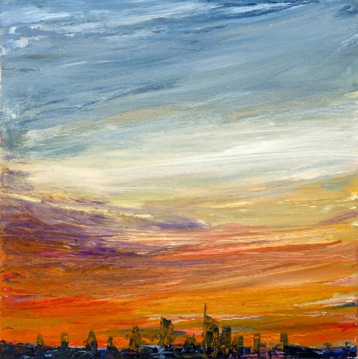 2018 Skyline 30x30cm oil-on-canvas