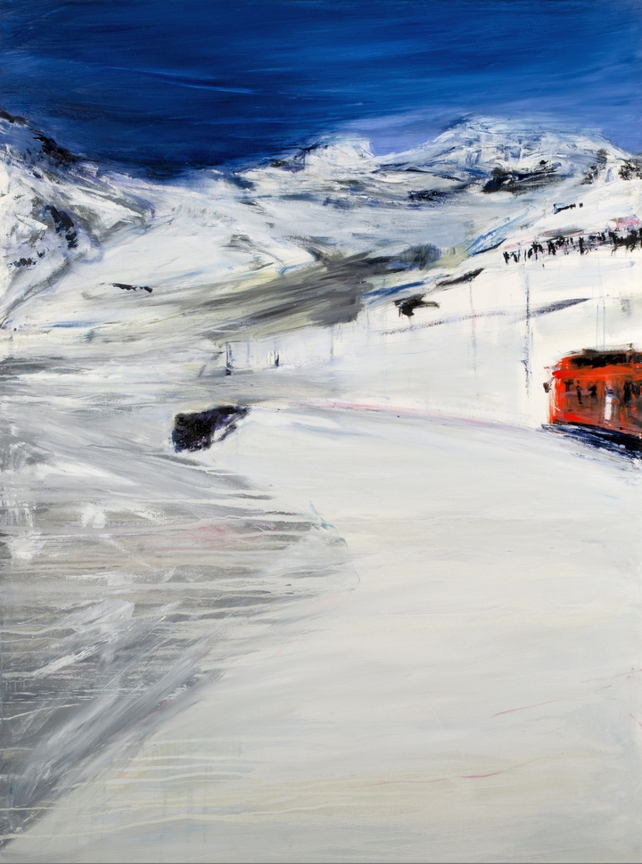 Francesco Zavatta 2018 Trenino Bernina 160x120cm oil on canvas