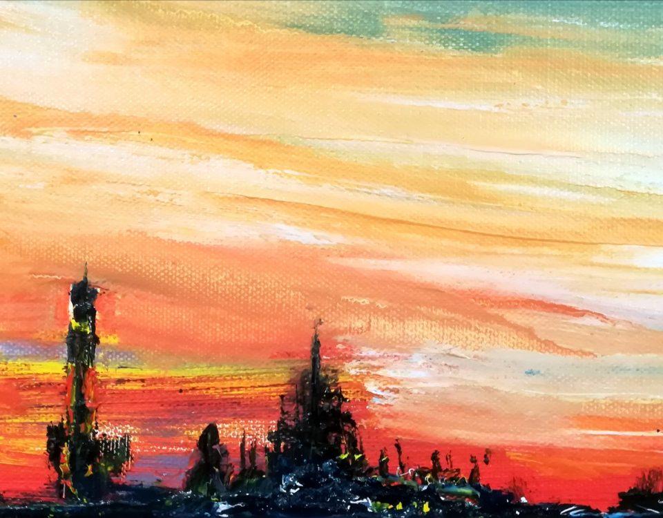 2018-Skyline-Duomo-15x30cm-olio-su-tela