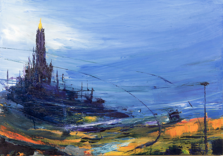 2019 Duomo 80x115cm olio su tela hd