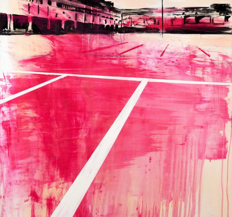 2019 Parcheggio 150x120cm tecnica mista su tela Francesco Zavatta Parking