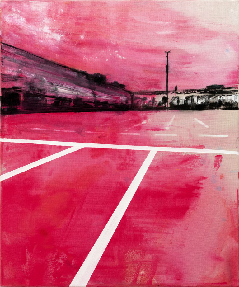 2019 Parking 60x50cm mixed-media-on-canvas