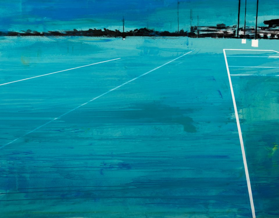 2019 Parking blue 140x200cm tecnica mista su tela Francesco Zavatta