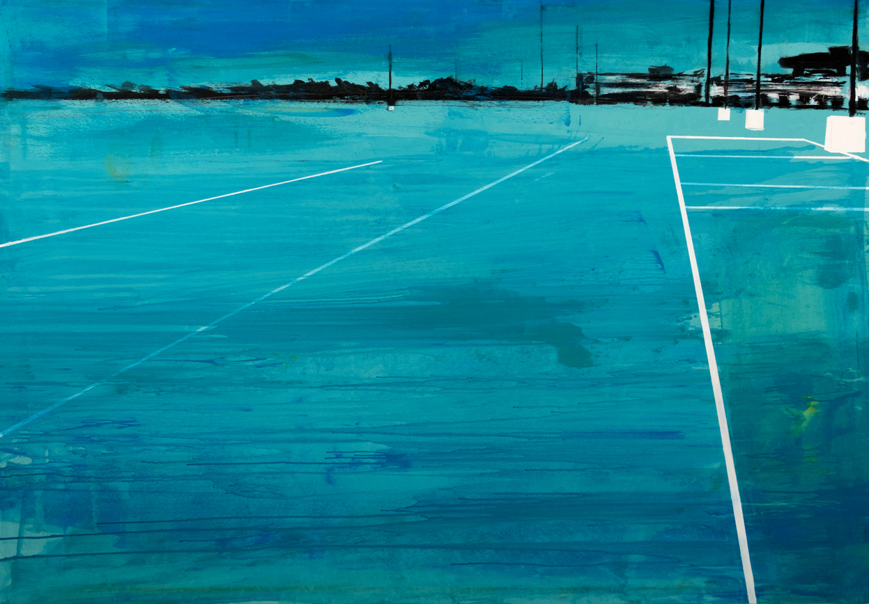 2019 Parking blue 140x200cm mixed-media-on-canvas