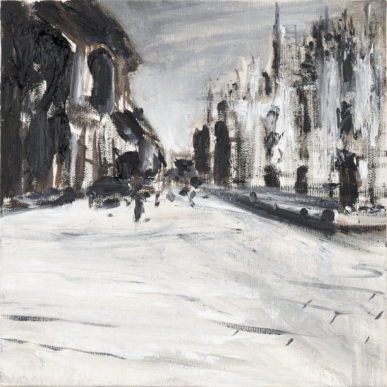 2019 Piazza Duomo 25x25cm olio su tela hd