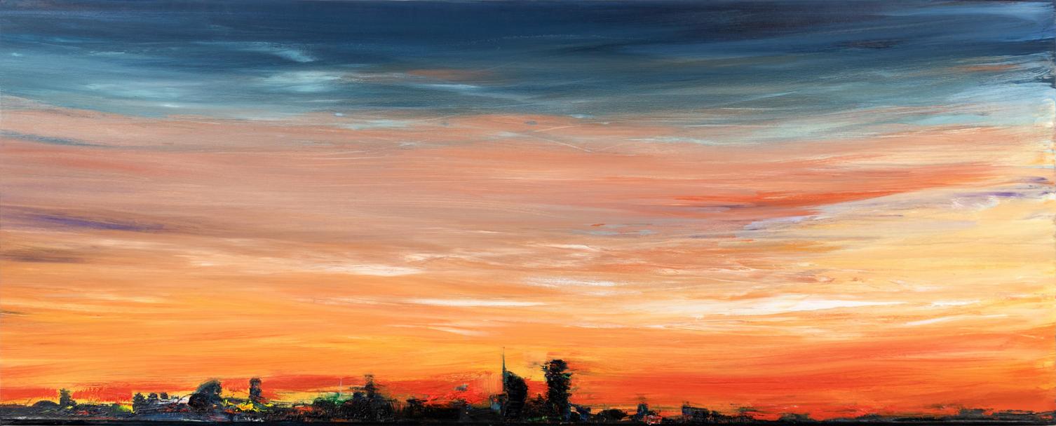 2019 Skyline 60x150cm olio su tela