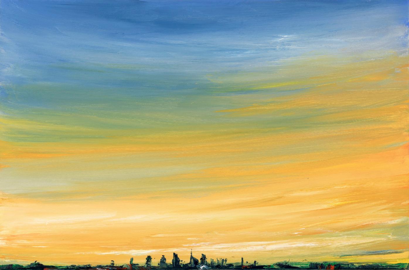 2019 Skyline 60x90cm oil-on-canvas