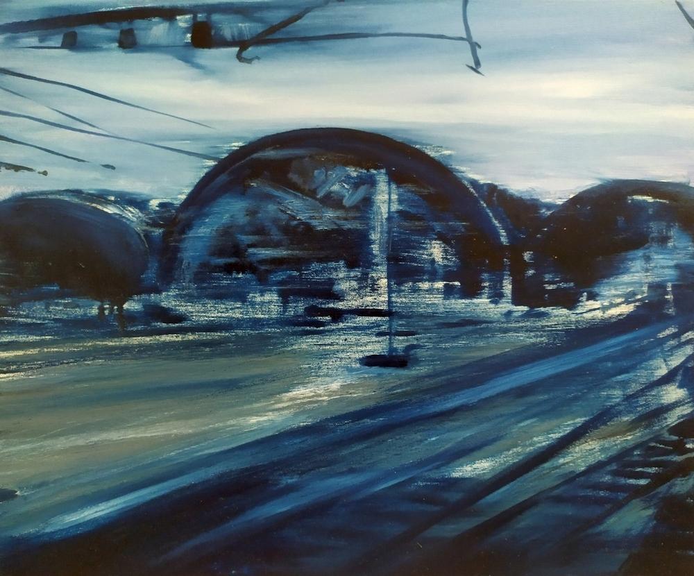 2019 Stazione centrale 50x60cm olio su tela