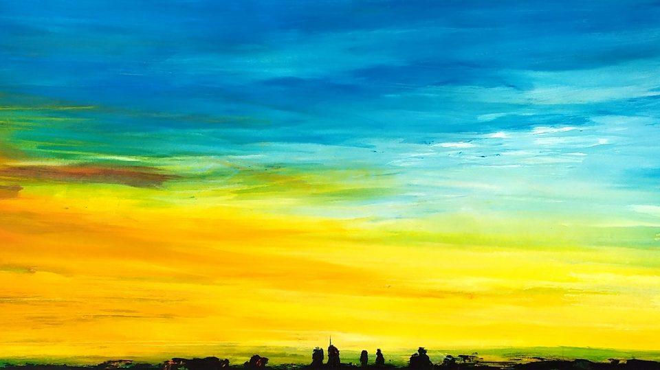 2019 Skyline 60x200cm olio su tela
