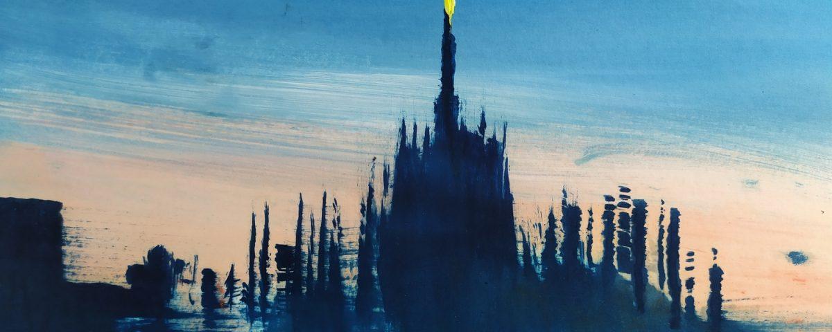 2019 Duomo di Milano 23x31cm olio su carta