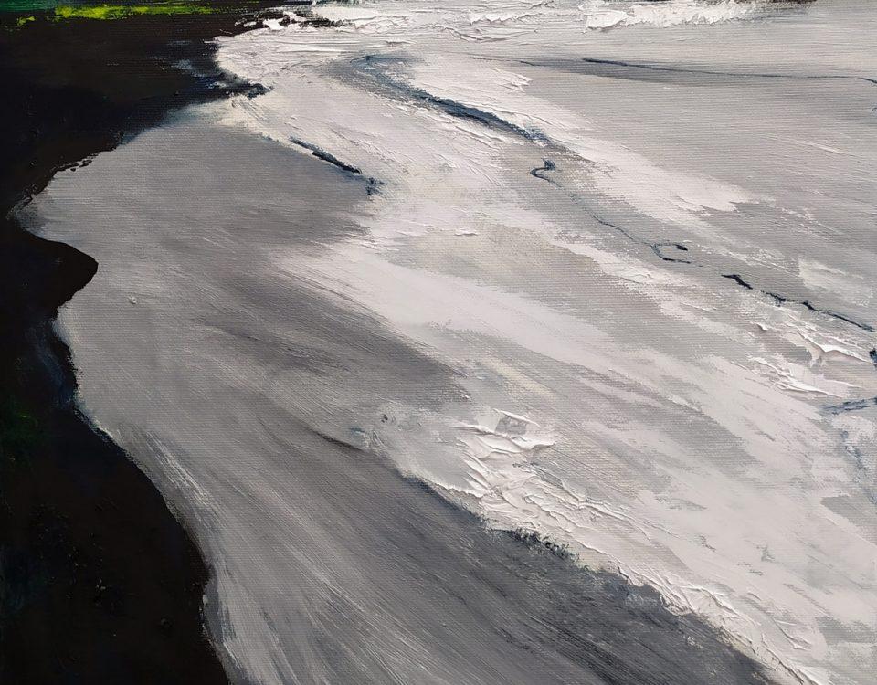 2019 Vik Islanda 52x42cm olio su tela