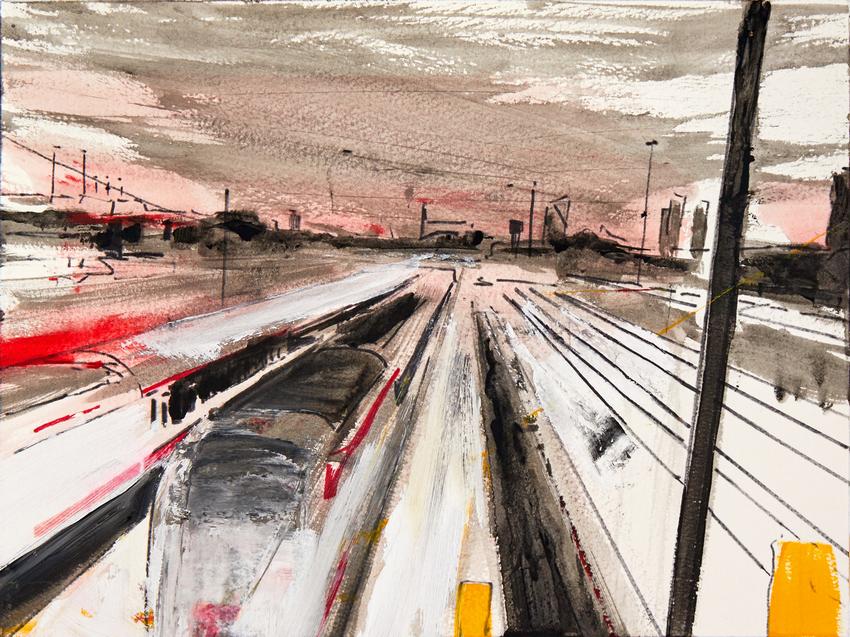 2019 Stazione Centrale I 24x32cm tecnica mista su carta
