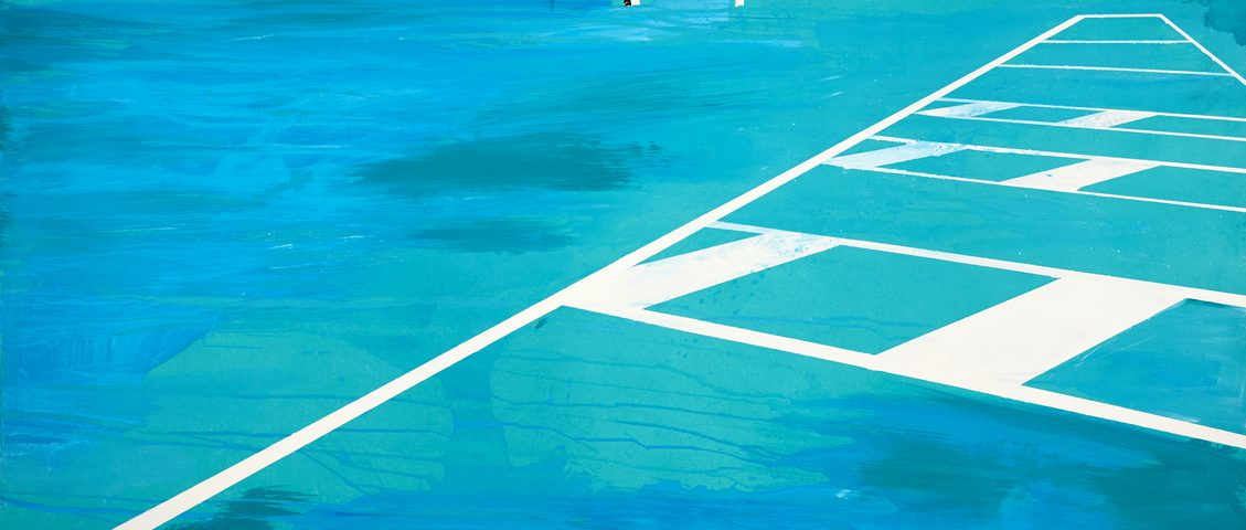 Francesco Zavatta 2019 Parking 140x200cm tecnica mista su tela
