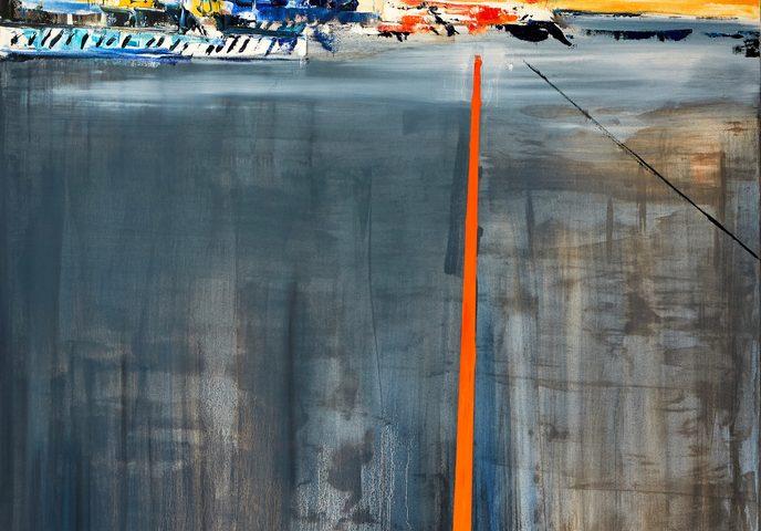 2019 Aeroporto EasyJet Malpensa143x80cm olio su tela